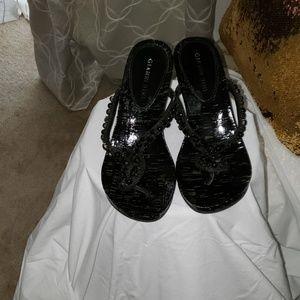 Gianni Bini Wedged heel sandals